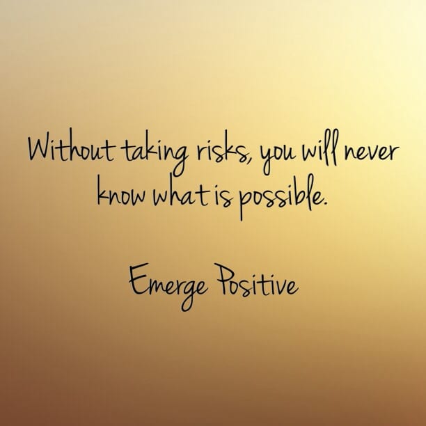 positive risk taking While risk taking can clearly be personally and professionally beneficial, it doesn't occur in a vacuum, either people don't benefit from risks without preparing to take them and educating.