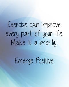 Exercise improves your life